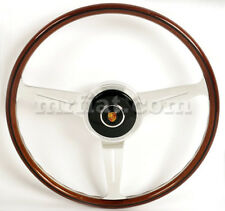 Porsche 356 A Complete Nardi Mahogany Wood Steering Wheel Flat New
