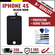 A+ LCD  TOUCH SCREEN/SCHERM/ÉCRAN BLACK NOIR & VERRE TREMPÉ +TOOLS FOR IPHONE 4S
