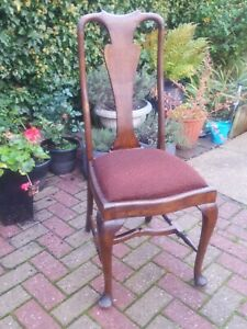 Antique Queen Anne Style Dining Chair Great detail