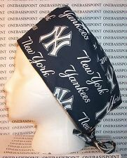 Surgical Scrub Hat Cap Made wh New York Yankees MLB Fabric Nurse Chemo ER Doctor