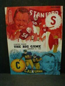 1969 BIG GAME PROGRAM - CALIFORNIA vs. STANFORD - Jim Plunkett, Randy Vataha