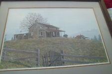 Windy Hill Print artist William V.Nichols signed framed numbered