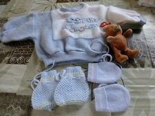 poupon raynal coli n ou bébé ensemble 3piéces chaussons et nounours offerts