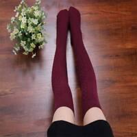 Women Twist Over Knee Knit Long Soft Socks Winter Thigh-Highs Hose Warm Stocking