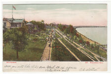 Whitefish Bay Milwaukee Wisconsin 1906 glitter highlights postcard