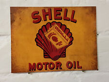 Shell Motor Oil Retro metal Aluminium Sign vintage , bar , pub , man cave...