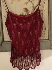 Adolfo Dominguez beaded red top - Perfect for parties - Size:  12/14 Exc cond