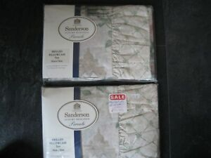 2 NEW SANDERSON FRILLED FLORAL PILLOW CASES