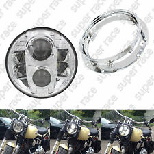 Motorcycle 48W H4 H13 7'' LED Headlight + Stainless Mounting Bracket For Harley