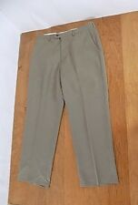 NEW Men's Haggar Casual Dress Pants Sz W 3 X 29 L Putty Slacks Flat Front NWT