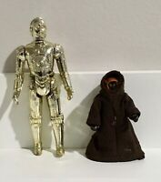 1977 Vintage Star Wars Action Figure JAWA C3PO LOT Kenner Hong Kong