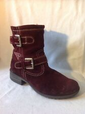 Josef Seibel Maroon Ankle Suede Boots Size 37