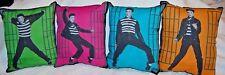 New Handmade Set Of Four Jail House Rock Elvis Presley Pillows