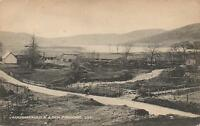 VERY EARLY 1900's VINTAGE POSTCARD - AUCHNAFAULD & LOCK FREUCHIE POSTCARD