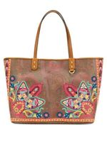 Etro Paisley Canvas Tote Bag With Floral Embroidery 2019 $1130
