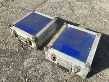 2 X Flight Case Square Boxes For Photographic And Musical Equipment Etc