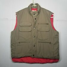 Vintage Sears Fieldmaster Vest Size XL Beige and Red Shooting Hunting Fishing