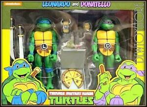 NECA TMNT Cartoon 2-packs Leonardo and Donatello action figures