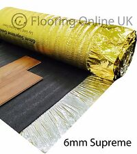 15m2 - 6mm Thick Supreme Sonic Gold - Acoustic Underlay - Wood or Laminate
