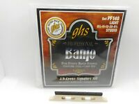 "GHS 5 String LT Banjo String Set + GB-1 1/2 Bridge 1/2"" High - Fast USA Shipping"