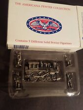 New In Box The Americana Pewter Collection set of 5 figurines 1993 Ah30