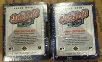 LOT OF 2 1991 Upper Deck Jeff Bagwell 755 ROOKIE RC UPDATE HIGH # SET BOX NEW