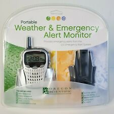 NEW OREGON SCIENTIFIC WR103 Portable Emergency + Weather Radio NOAA Alert Hazard