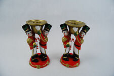 PartyLite Toy Soldiers Taper Candle Holders - Set of 2 - P7704