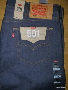 Levi`s 501 Jeans Shrink- To- Fit  STF Dark Blue Denim Größe W 38 / L 36 Neu BNWT