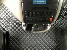 TRUCK ECO LEATHER FLOOR MATS SET-BLACK, FIT DAF XF 105  2007-2011 AUTOMATIC