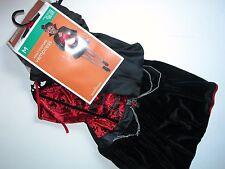 NWT NEW Halloween Costume M (8-10) Adult Vampire Vanpiress Woman's