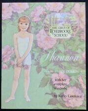 Shannon of Rosebrooke School Paper Doll, Artist Kathy Lawrence, 1999, Uncut