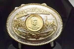 AWARD DESIGN MEDALS SILVERSMITHS EDITION TROPHY SIZE JOHN WAYNE AN AMERICAN GPSP