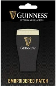 Guinness Pint iron-on / sew-on cloth patch 40mm x 80mm (sg)