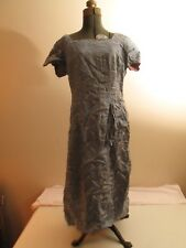 Vtg Chinese Blue Cheongsam,Qipao, Mandarin  Dress; S/ XS 100% Silk hand made 4-6