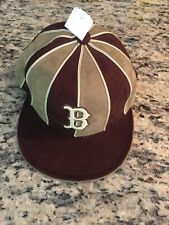 Boston Red Sox New Era Retro Suede Brown Hat Size 7 5/8