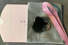 Ted Baker Bunny Tail Ring Black / Rose Gold Tone Medium / Large