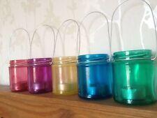 Lot de 5 hanging pot bougie tealight lanternes rainbow candy crush multi Mariage