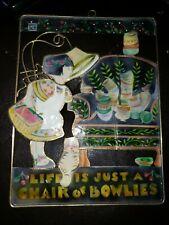Mary Engelbreit Sun Catcher Life is a Chair of Bowlies Enesco 1998 Me Ink