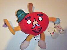 RARE 1999 Ebay Mr. Apple Bean Bag Plush Stuffed Animal Advertising Toy With Tags