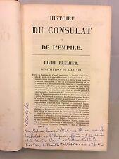 Histoire Du Consulat Et De L ' Empire 21 Volumes 1845-1874 Adolphe Thiers