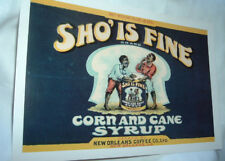 New Orleans Corn Syrup Litho Advertising Cardstock Sign