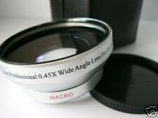 SL 55mm 0.45X Wide-Angle Lens w/Macro For Fuji Fujifilm S3000 S3500 S304 Camera