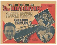 The Kid's Clever Glenn Tryon 1929 herald