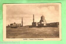 EGYPT  MILITARY POSTCARD -  1919, ON ACTIVE SERVICE, TOMBS OF THE MAMELOUKS