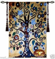 Beautiful Tree of life Fine Tapestry Jacquard Woven made Wall Hanging rug x c w