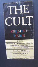 The Cult Hannover GERMANY 30.10.1991 - ORIGINAL TICKET!