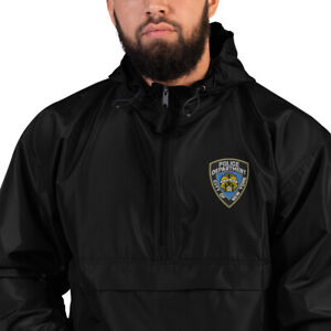 NYPD Embroidered Champion Packable Jacket