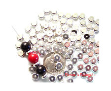50 Silver Plated Heishe Metal Spacer Beads 6MM