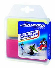 Holmenkol Worldcup Mélange Chaud Jaune - Rouge 2x 35g Cire Ski de Fond